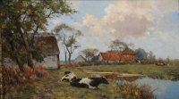 a farm landscape with cows by gerard altmann