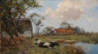a farm landscape with cows by gerard altmann