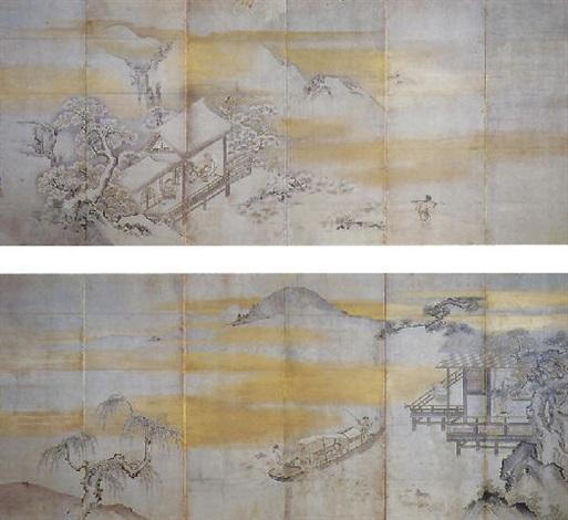 chinese landscape by kano munenobu