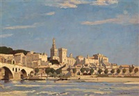 avignon from the rhone by richard jack