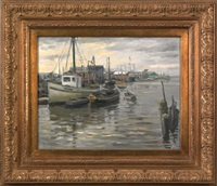 harbor scene by frank c. herbst