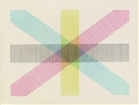 bands of lines in four directions by sol lewitt