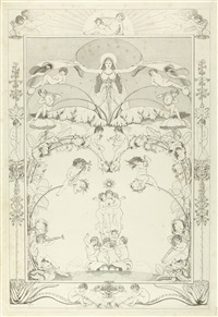 die zeiten (set of 4) by philipp otto runge