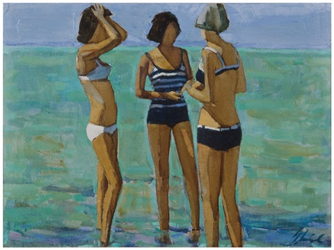 cagnes three bathers by shirl goedike