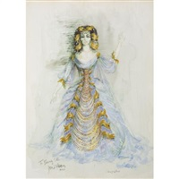 costume design for beverly sills as cleopatra in handel's giulio cesare by jose varona