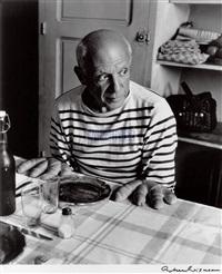 罗伯特·杜瓦诺 1952《毕加索的面包手》 by robert doisneau