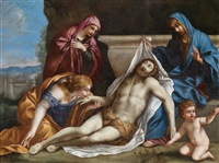 die grablegung christi by giovanni francesco romanelli