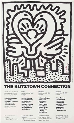 poster for kutztown connection by keith haring