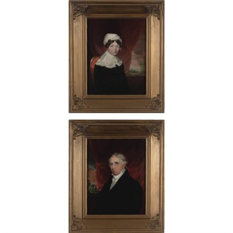 mr charles sidney breese mrs charles sidney breese pair by samuel fb morse