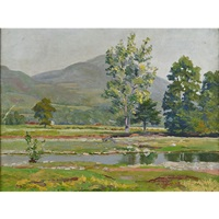 landscape stream by george w. picknell