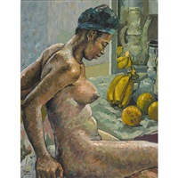 nude with bananas by albert huie