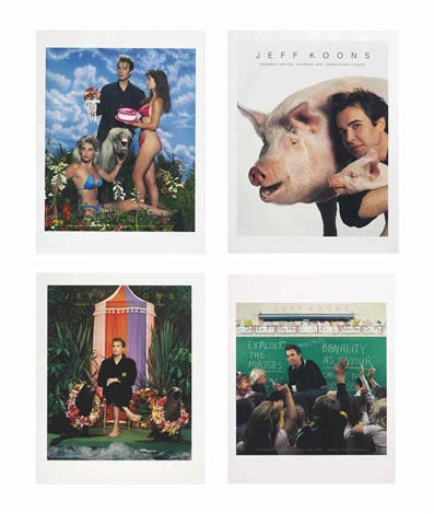 art magazine ads art flash art art in america and artforum set of 4 by jeff koons