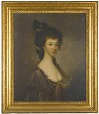 portrait of hannah maria barker, mrs mossom by john lewis