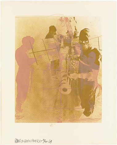 shell from stoned moon series by robert rauschenberg