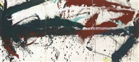 untitled (triptych) by norman bluhm