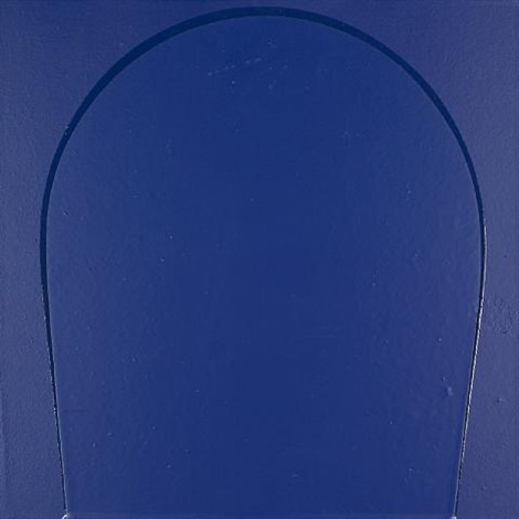 poured painting: blue by ian davenport