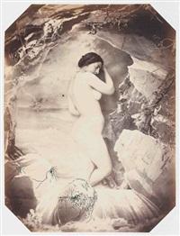 baigneuse à la cascade by joseph auguste belloc