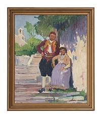 portrait of a couple by dixie selden