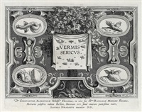 vermis sericus (set of 6, after j. stradanus) by karel van mallery
