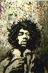 jimmy hendrix by ilan anoufa