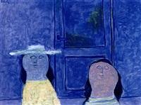 twee personen op blauw by jan roëde