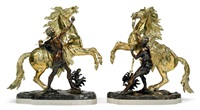 marly horses (pair) by guillaume coustou the younger