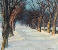 winterlandschaft by carl adolf korthaus
