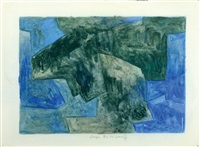composition in blue and green by serge poliakoff