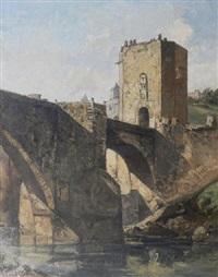 alcantara bridge, toledo by oliver hall