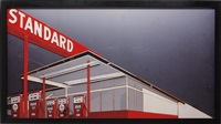 standard station after ed ruscha from pictures of cars by vik muniz