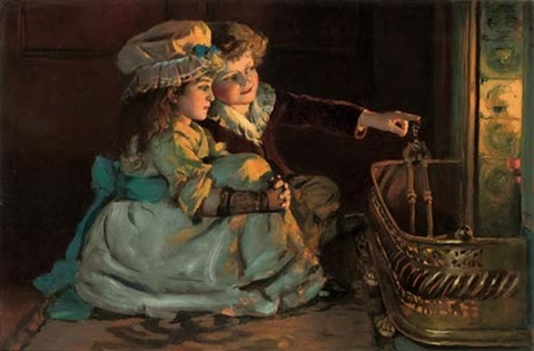 beside the hearth by william hippon gadsby