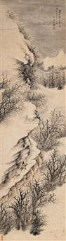 雪山行旅 (landscape) by jiang zhongxun