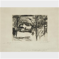 winter am walchensee (hotel fischer am see) by lovis corinth