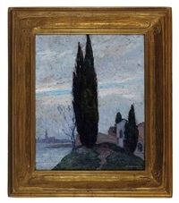cypress tree in a landscape by mischa askenazy
