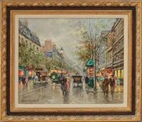 boulevard haussman by antoine blanchard