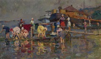 washing clothes in the volga by iosif naumovich gurvich