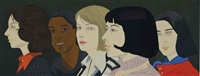 five women (m. 94) by alex katz