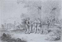 rebekka und eliser am brunnen by johann friedrich morgenstern
