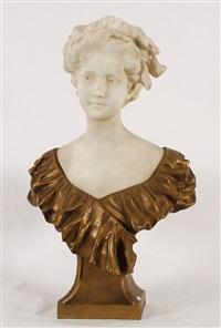 buste de jeune femme by morin