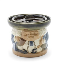 the best is not too good figural tobacco jar and lid by harry simeon