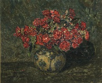 roses in a persian vase by jan adam zandleven