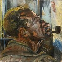 portrait of cedric morris by renate koppel