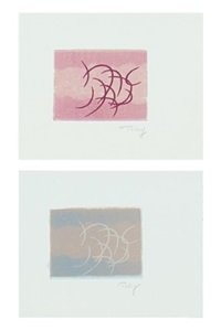 ohne titel (3 works) by mark tobey