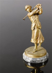 car mascot in the form of a lady golfer by josé dunach