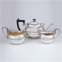 tea service (set of 3) by ridley hayes and george nathan