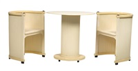 paar fauteuils und ovaler tisch (set of 3) by hans gunther reinstein