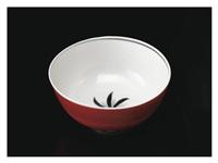bowl with a kinrande decoration by kitaoji rosanjin