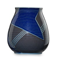 vase with geometric pattern by j. d. wareham
