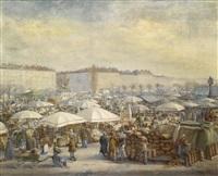 reges treiben am naschmarkt by carl massmann