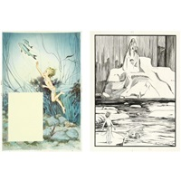 illustrations for the water-babies (various sizes; set of 17) by helen jacobs